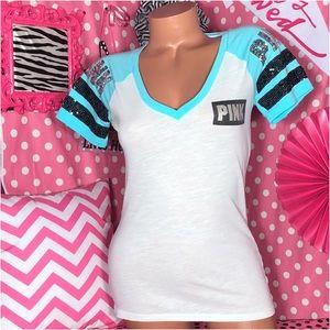 Pink victoria's Secret bling T-shirt